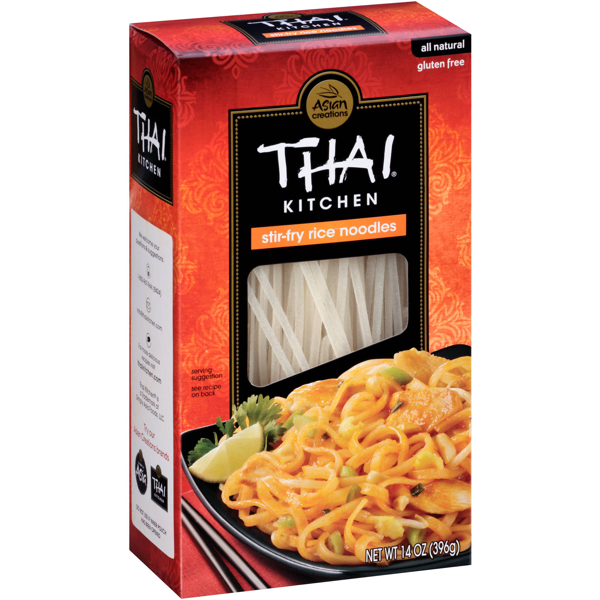 Thai Kitchen thai kitchen gluten free stir fry rice noodles, 14 oz - walmart