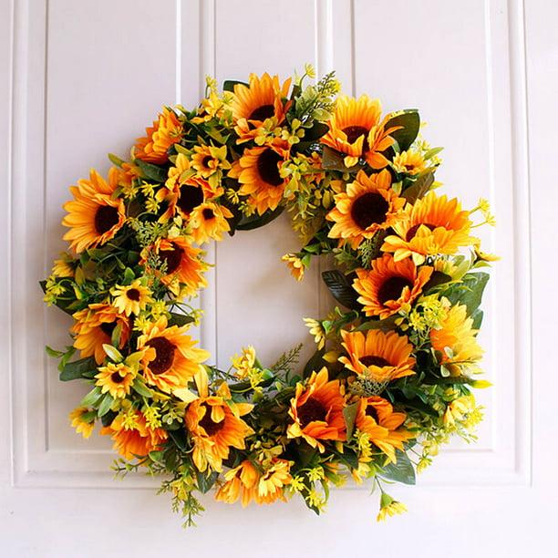 Sunflower wall hanger sunflower door hanger,door hanger,wrearth,flower wall hanger,flower door hanger,sunflower wreath,grapevine wrearth.