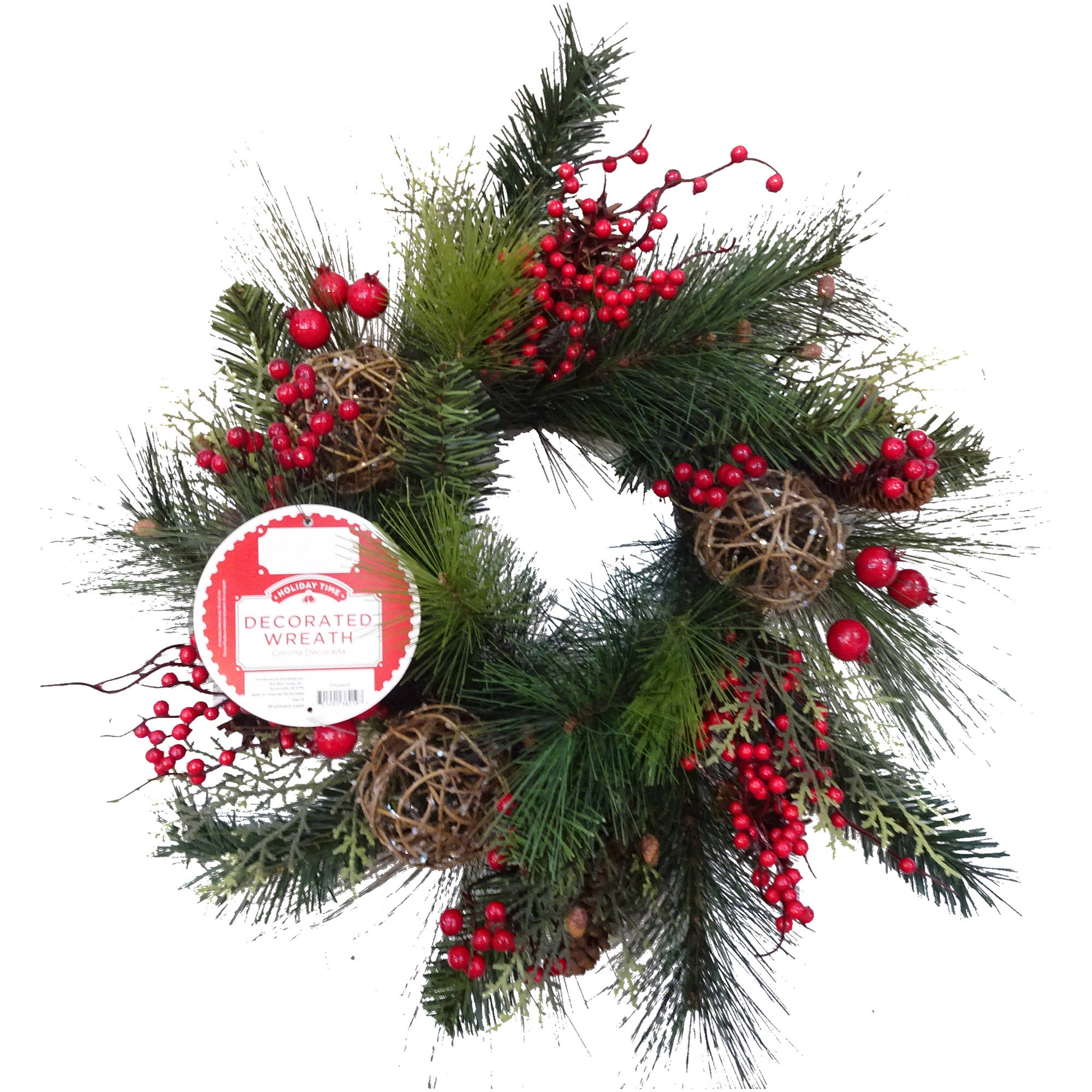 Decorated Berry Christmas Wreath