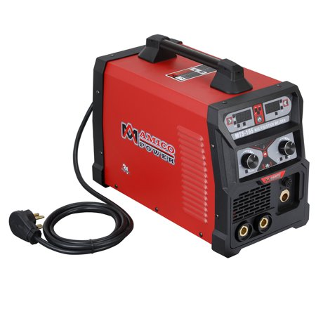 MTS-165, 165 Amp MIG/TIG-Torch/Stick Arc Combo Welder, Weld Aluminum 110/230V Dual Voltage