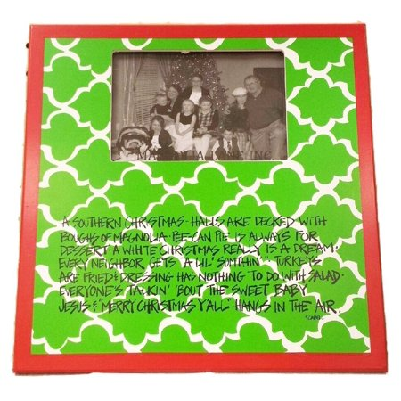 A Southern Christmas Frame By, Hand-painted wood frame with A Southern Christmas description By Magnolia - Lane Magnolia