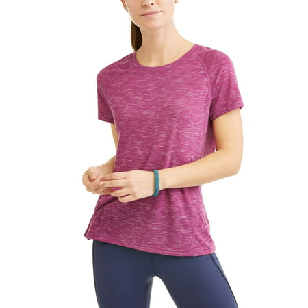 Athletic Works Womens Core Active Short Sleeve Crewneck Performance T Shirt