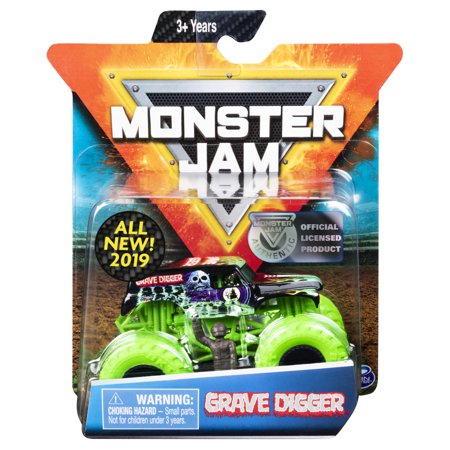 Monster Jam, Official Grave Digger Monster Truck, Die-Cast Vehicle, Nitro Neon Series, 1:64 Scale](Monster Jam Grave Digger)