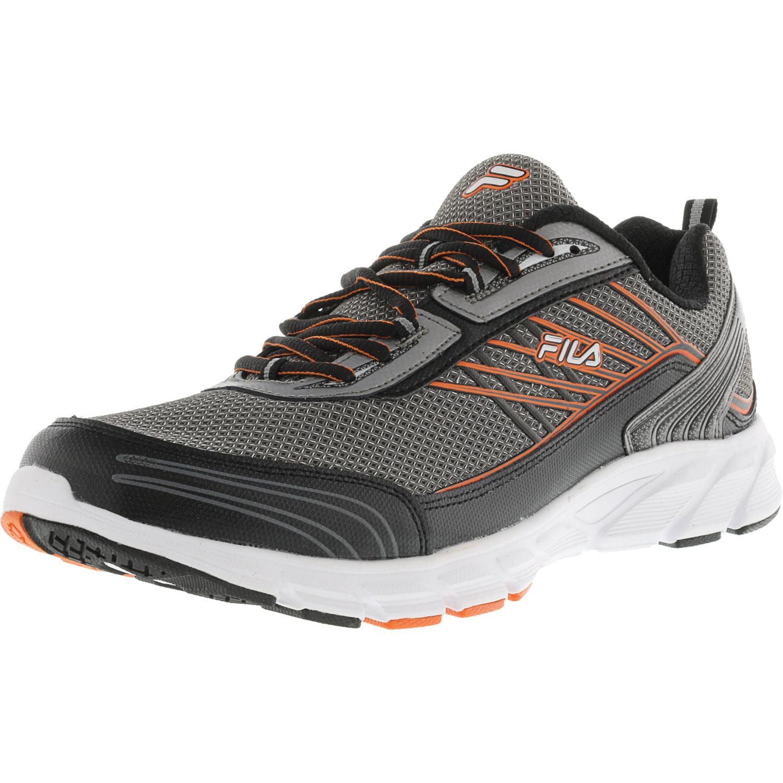 Fila Men's Forward 3 Dark Silver   Black Red Orange Ankle-High Running Shoe 14M by Fila