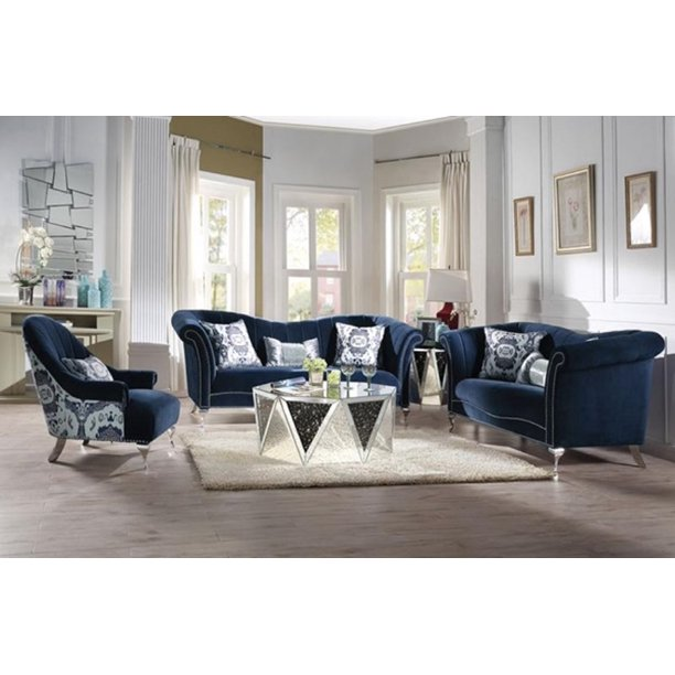 Accent Chair Blue Velvet Com, Blue Accent Chairs For Living Room