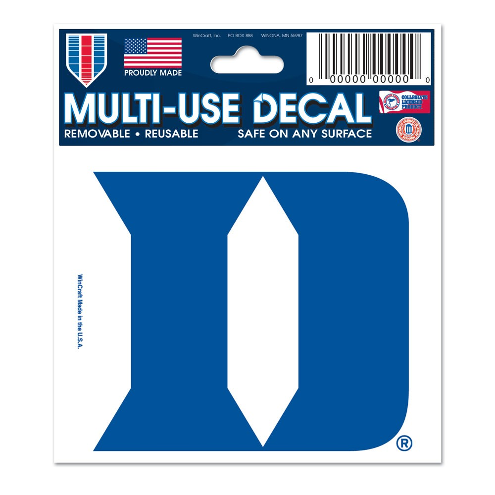 Duke Blue Devils Official NCAA 3 inch  x 4 inch  MultiUse Car Decal by WinCraft