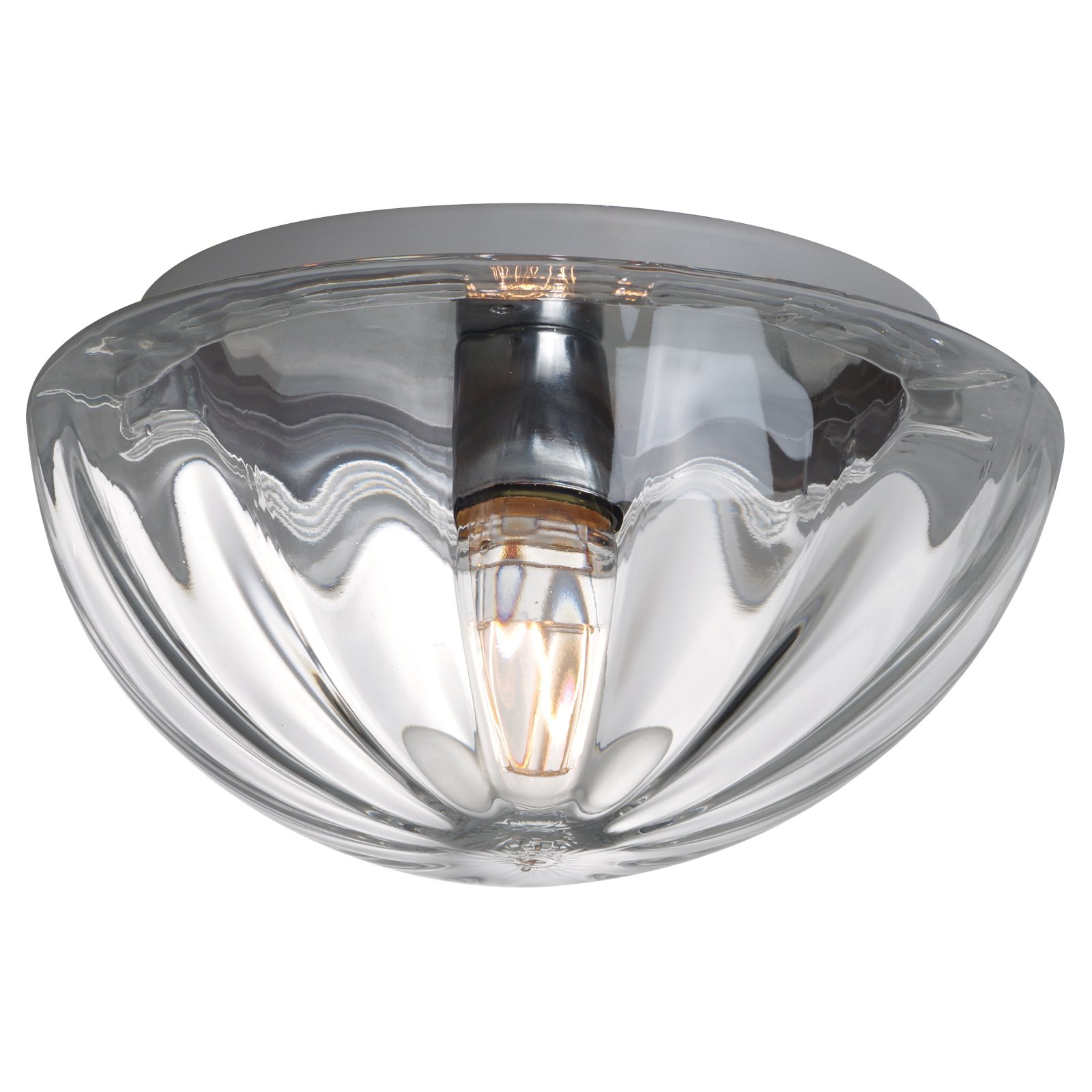 Besa Pinta 15 Ceiling Flush Mount Light with Clear Glass