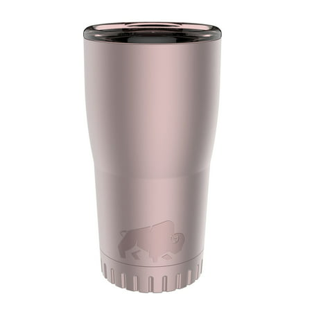 Silver Buffalo Stainless Steel Insulated Tumbler, 20 oz., Matte (Glider Soccer Ball As Seen On Tv)