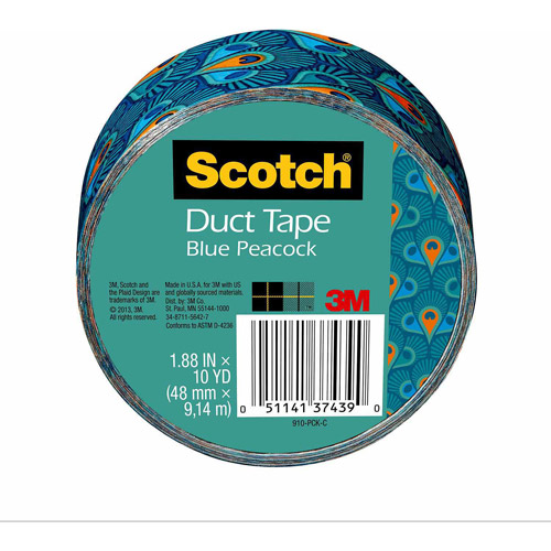 "Scotch Duct Tape, 1.88"" x 10 yd, Blue Peacock"