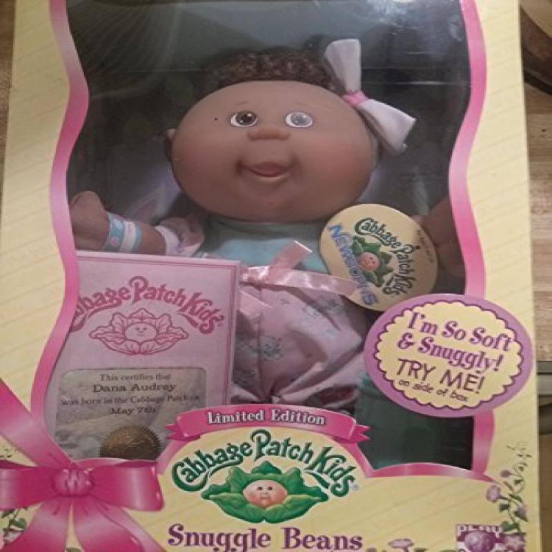 Cabbage Patch Kids Snuggle Beans Limited Edition African American Dana Audrey May 7th by