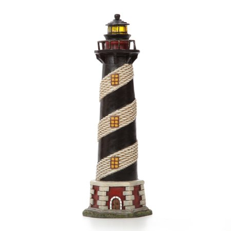 Elegant Expressions by Hosley Blinking LED Tabletop Resin Lighthouse