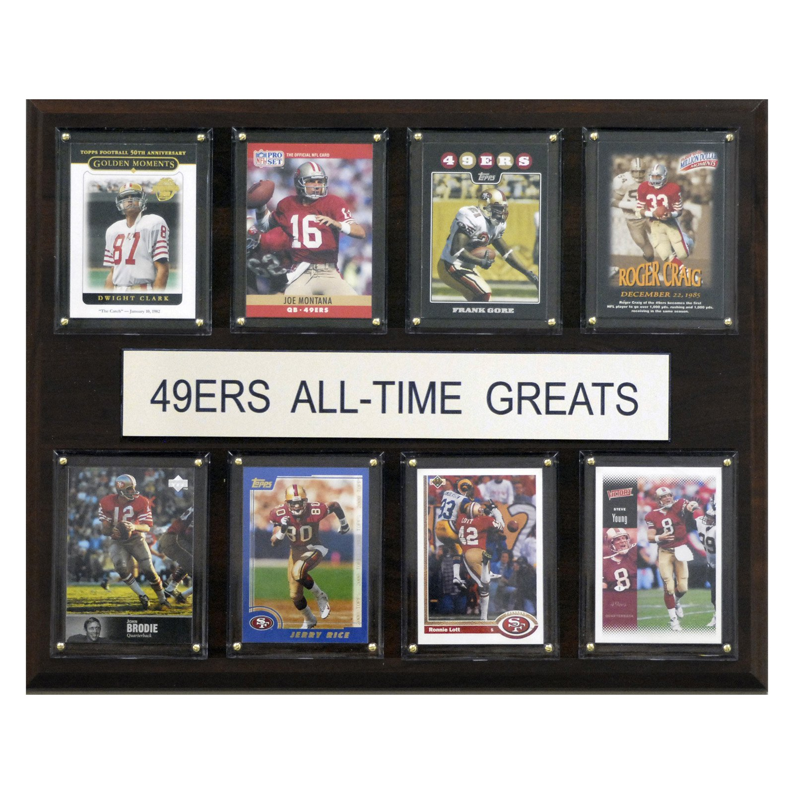 C&I Collectables NFL 12x15 San Francisco 49ers All-Time Greats Plaque