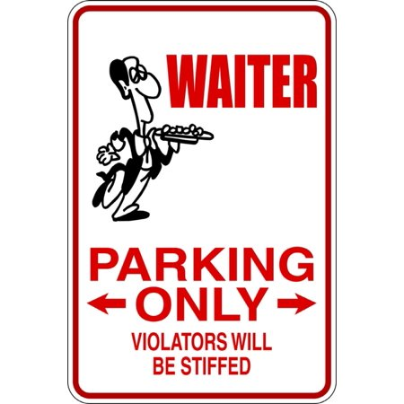 Signs Die Cut Wall Border - Waiter -Parking Signs - Picture Art - Peel & Stick Vinyl Wall Decal Sticker Size : 9 Inches X 18 Inches