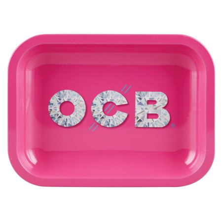 Ocb Rolling Papers - OCB Metal Rolling Tray - Diamond / Small (7.5