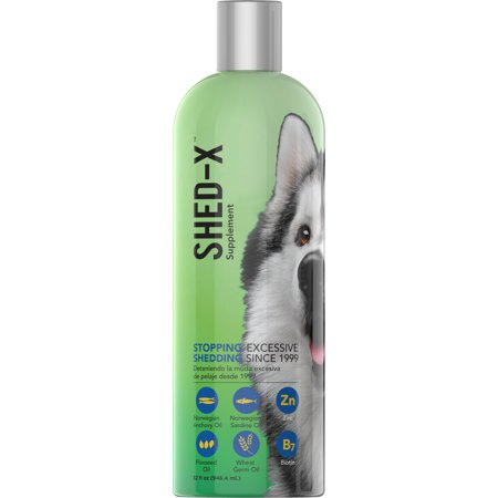 Shed-X Dermaplex Liquid Daily Supplement for Dogs, Eliminates Excessive Shedding, 32