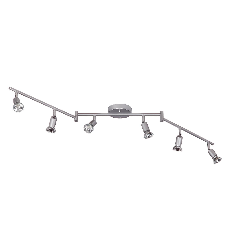 Globe Electric Payton 6-Light Matte Silver Foldable Track Lighting Kit, 59351 by Globe Electric