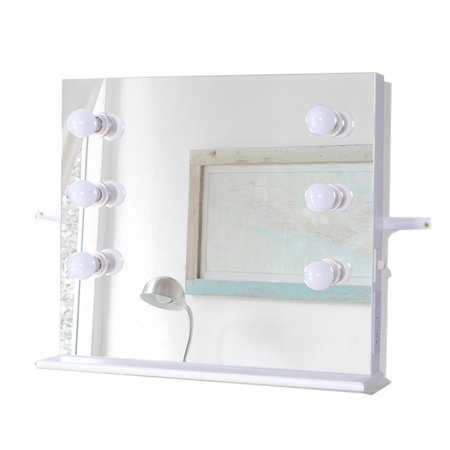 Organizedlife Wall Mounted Makeup Mirror with LED Lights ...