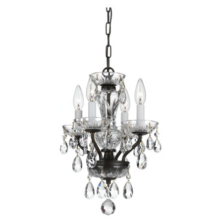 Crystorama Traditional Crystal 5534 4 Light Chandelier