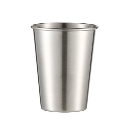 3pcs Stainless Steel Cup Drinking Juice Beer Glass Portion Cups home Travel Tool