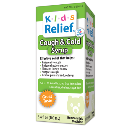 Kids Relief Cough & Cold Homeopathic Medicine, 3.4 FL OZ