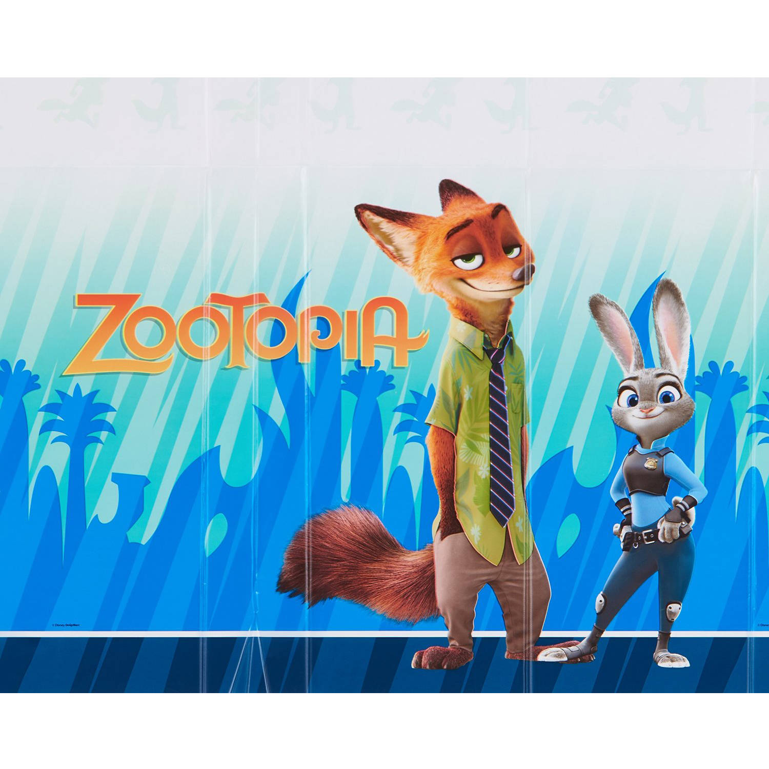 Zootopia Party Plastic Rectangle Table Cover, 54 x 96 in.