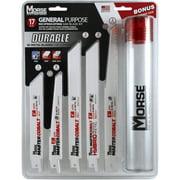17-Piece General Purpose Reciprocating Blade Set with Storage Tube