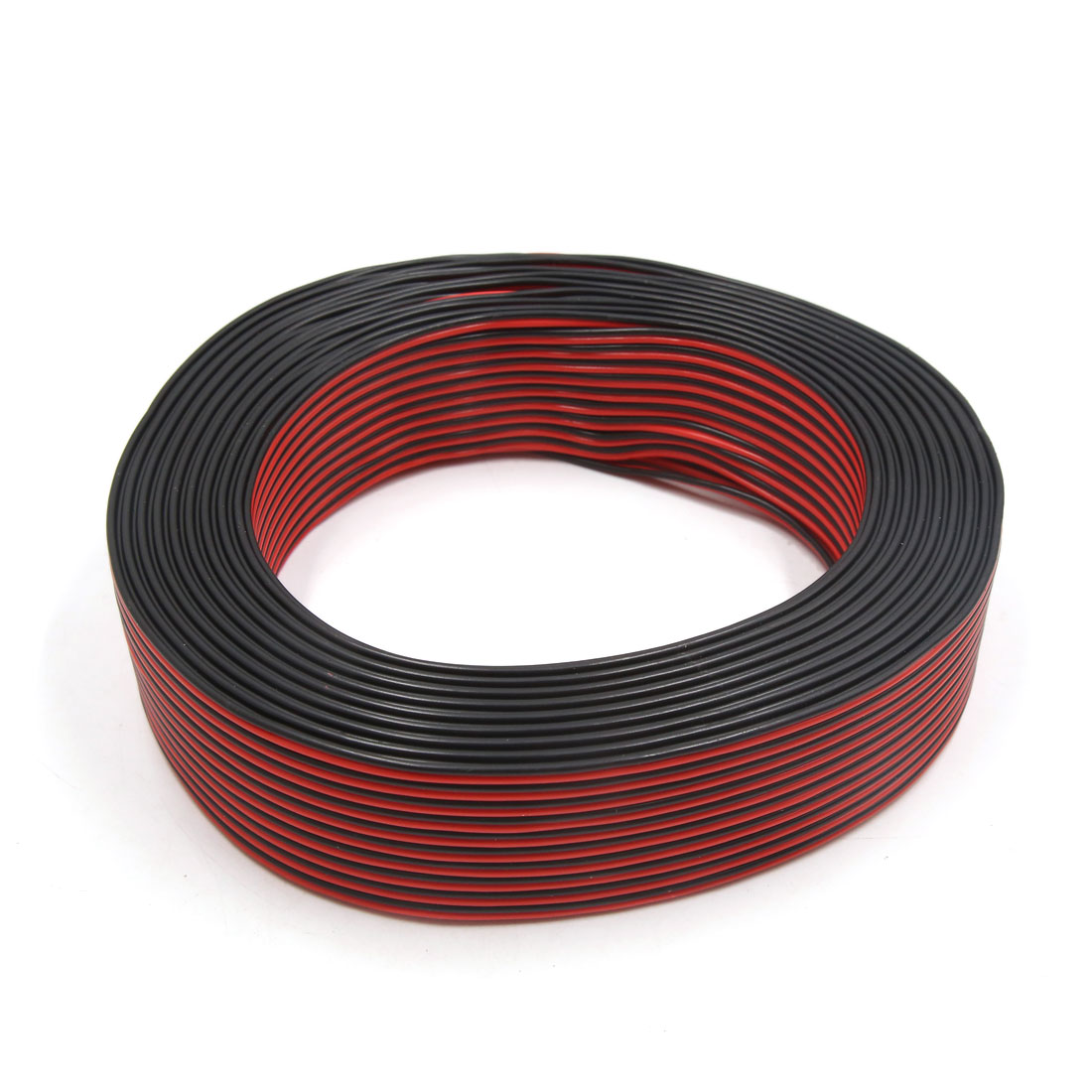 0.3mm2 x 100M Black Red Horn Speaker Wire Cable for Auto Car Home Audio
