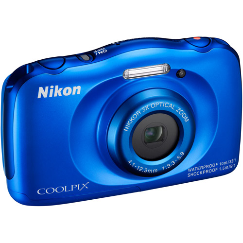 Nikon COOLPIX S33 Digital Camera with 13.2 Megapixels and 3x Optical Zoom
