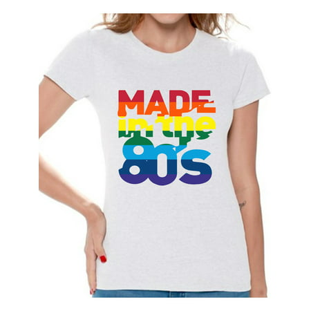 Awkward Styles Made in the 80s Shirt Rainbow 80s T shirt Rainbow Shirt 80s Birthday Shirt Gay Pride Shirt 80s Rock T Shirt 80s T Shirt 80s Costume 80s Clothes for Women 80s Outfit - 80s Birthday