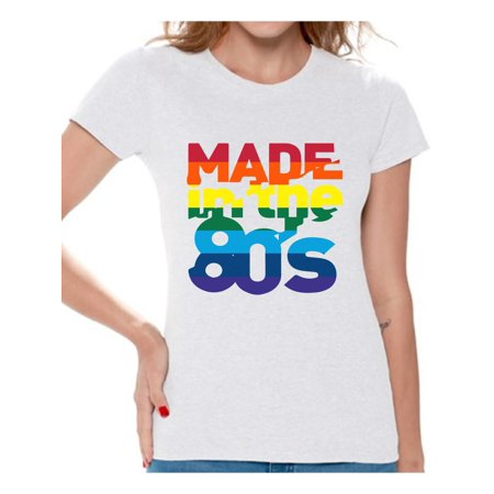 Awkward Styles Made in the 80s Shirt Rainbow 80s T shirt Rainbow Shirt 80s Birthday Shirt Gay Pride Shirt 80s Rock T Shirt 80s T Shirt 80s Costume 80s Clothes for Women 80s Outfit](Fir Clothing)