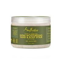 SheaMoisture Olive & Green Tea Hand/Body Scrub, 12 oz