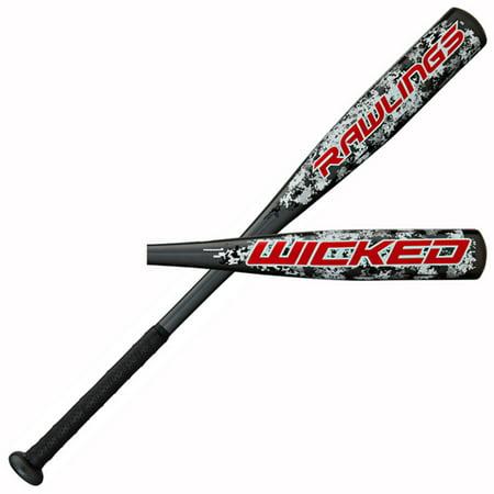 Rawlings Baseball Wicked Aluminum Baseball Bat, 27/17 -10 YBRAW10 Sports Gear