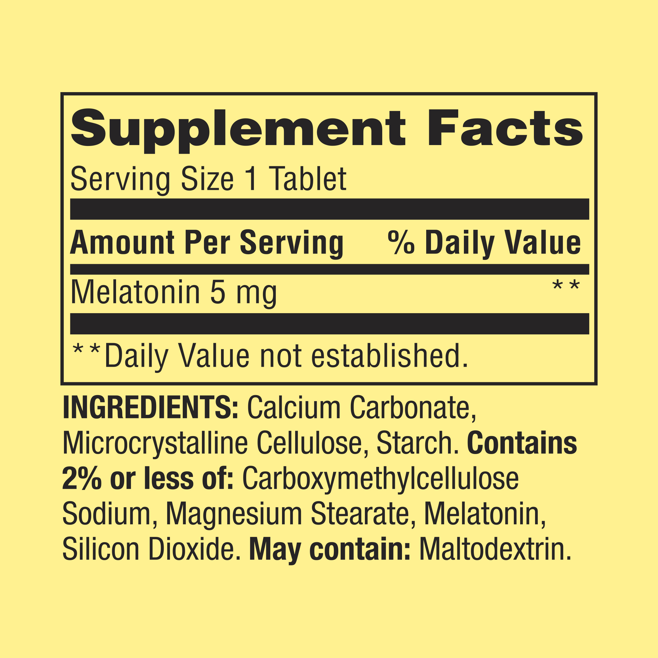 Spring Valley Melatonin Tablets, 5 mg, 120 Ct, 2 Pk - Walmart com