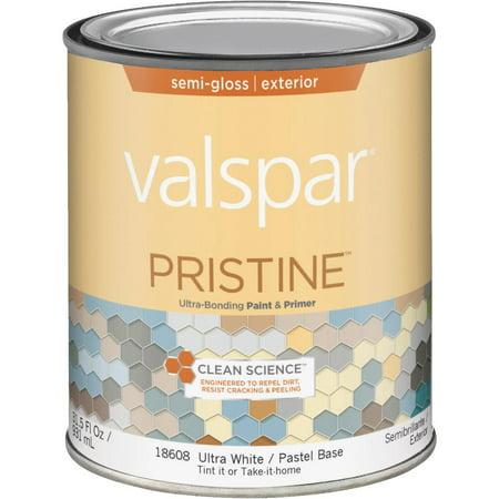 Valspar Pristine 100 Acrylic Paint Primer Semi Gloss Exterior House Paint
