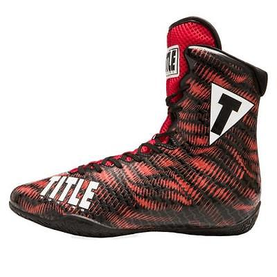 TITLE PREDATOR BOXING SHOES Red/Black 9.5