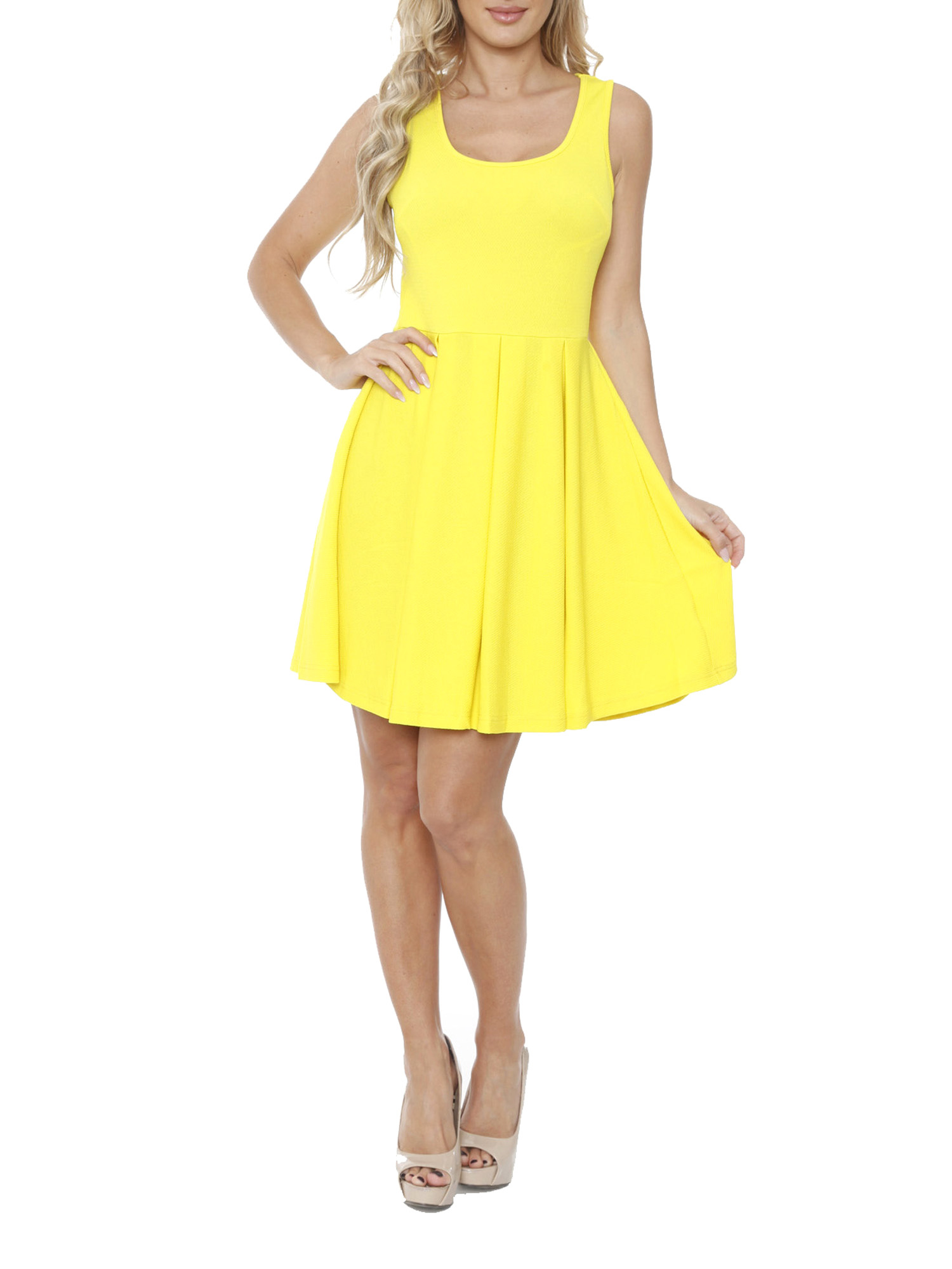 Women's Bright Fit and Flare Mini Dress