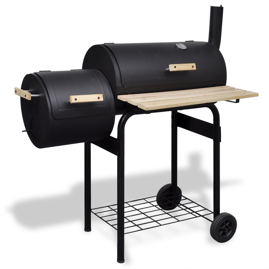 Anself Classic Charcoal BBQ Offset Smoker