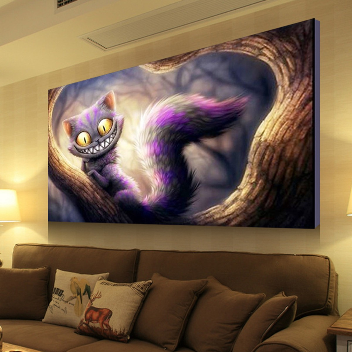 DIY 5D Diamond Embroidery Cat Diamond Painting Cross Stitch Kits Home Decor 22.8x15.4 inch