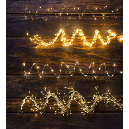 cabd1cd7d69c Firefly String Lights, 60 Warm White LEDs on Copper Wire, Set of 12 -  Walmart.com