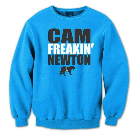 Aqua Sweatshirt (Cam Freaking Newton Small Aqua Crewneck Sweatshirt)