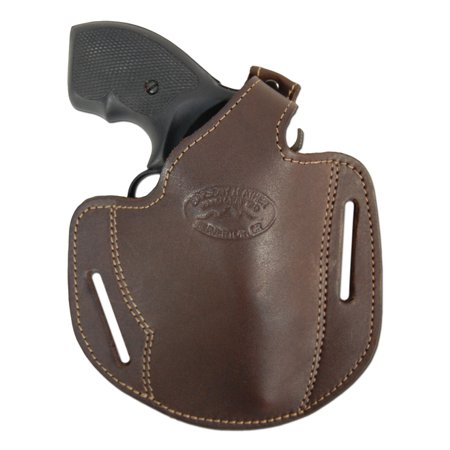 Barsony Right Hand Draw Brown Leather Pancake Gun Holster Size 1 S&W Taurus Colt Charter Arms .22 .38 .357