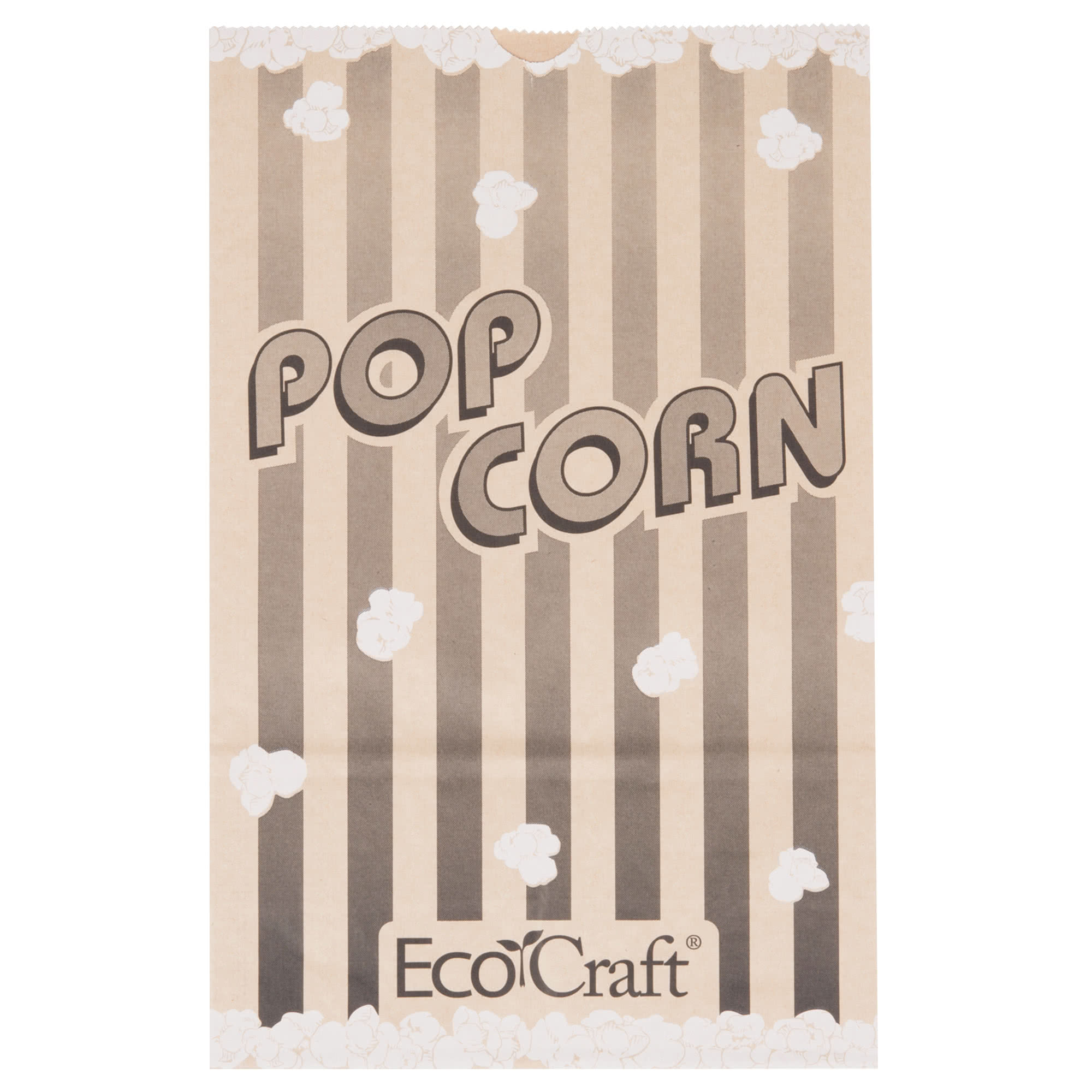 """Papercon 300614 7 1 2"""" x 3 1 2"""" x 11 3 4"""" 170 oz. EcoCraft Popcorn Bag 250... by TableTop King"""