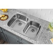 soleil 33 l x 22 w drop in double - Drop In Kitchen Sink