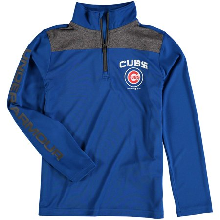 fresh styles another chance best sale Chicago Cubs Under Armour Youth Tech 1/4-Zip Performance Pullover Jacket -  Royal - Walmart.com