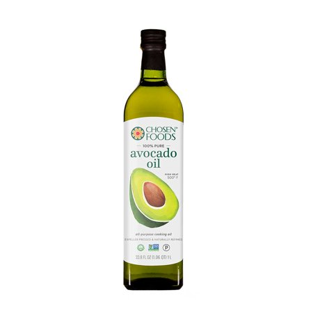 Chosen Foods 100% Pure Avocado Oil 1 L (3 Pack), Non-GMO, for High-Heat Cooking, Frying, Baking, Homemade Sauces, Dressings and