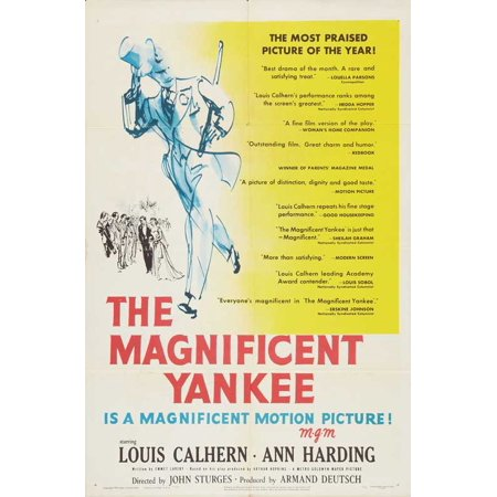 The Magnificent Yankee POSTER Movie Mini Promo (Yankee Lake Halloween)
