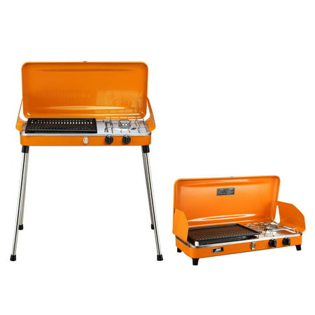 53f3a4e4ec99f9 Liquid Propane BBQ Gas Grill,Barbecue Grill Outdoor Cooking Camping Stove  Portable Stainless Steel,Orange - Walmart.com