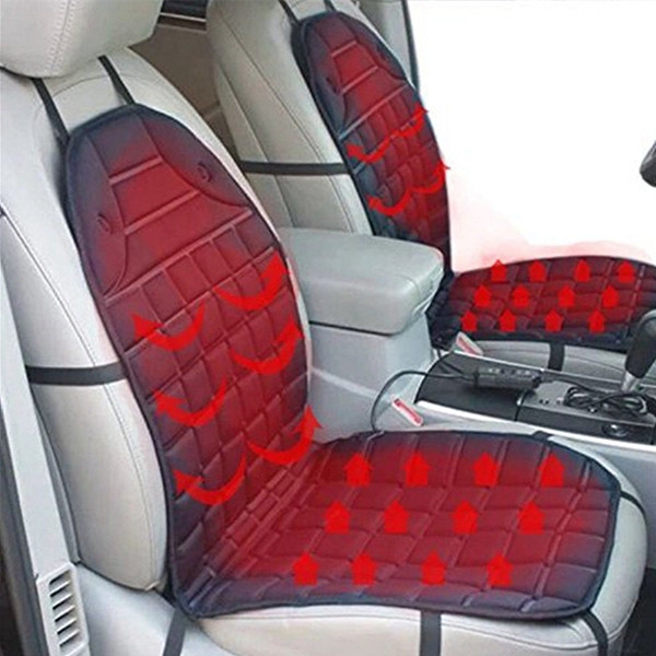Universal 12V Car Heated Seat Cover Cushion Hot Warmer Heating Warmer Pad Hot Cover Perfect Adjustable Temperature Pain... by