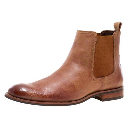 JUMP NEWYORK Men's Lawson Tan Narrow Toe Leather Chelsea Boot 8 D US Men