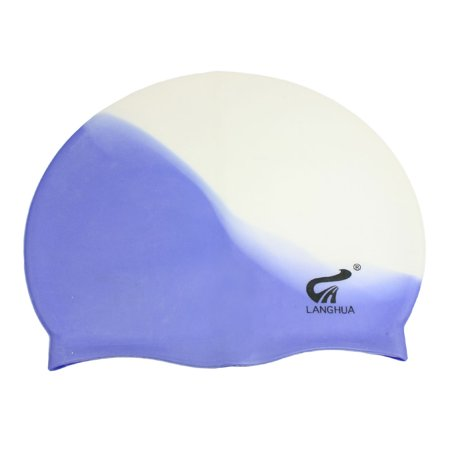 dd2185b1985 Unique Bargains Stretchy Silicone Swimming Cap Hair Ear Protective Gear Hat  for Adult - Walmart.com